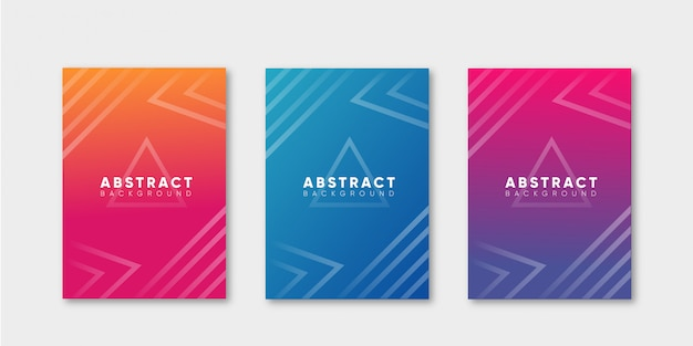 Abstract cover with geometric shape collection