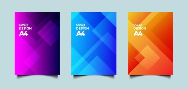 Абстрактная обложка с геометрическими фигурами