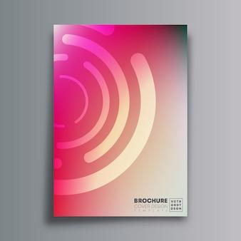 ピンクの円形の抽象的なカバー