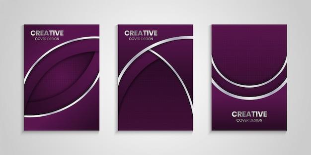 紫色のオーバーラップレイヤーを持つ抽象的なカバー
