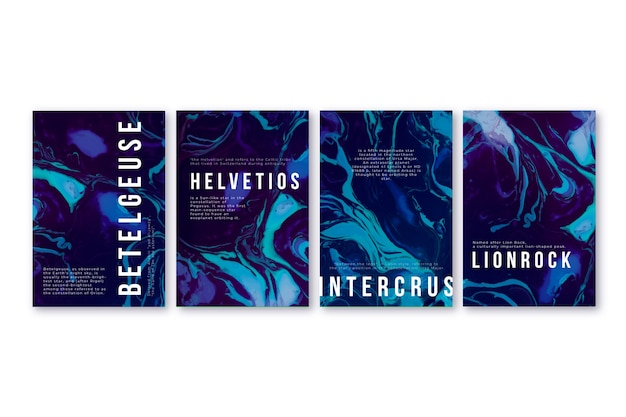 Abstract covers collection concept