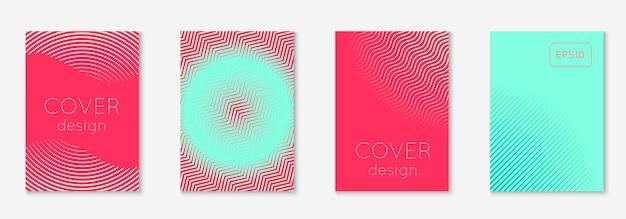 Набор абстрактных обложек. минимальный модный вектор с градиентами полутонов. геометрический шаблон будущего для флаера, плаката, брошюры и приглашения. минималистичная красочная обложка. абстрактная иллюстрация eps 10.