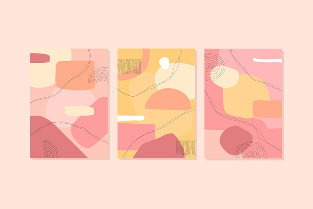 Абстрактные обложки шаблона
