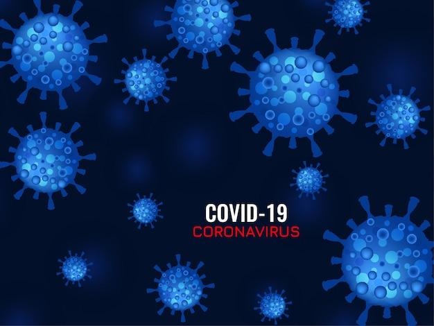 抽象的なcovid-19コロナウイルスの背景