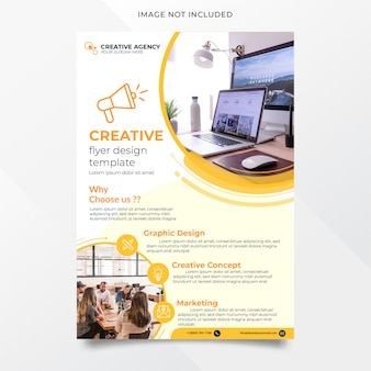 Abstract creative agency flyer design template