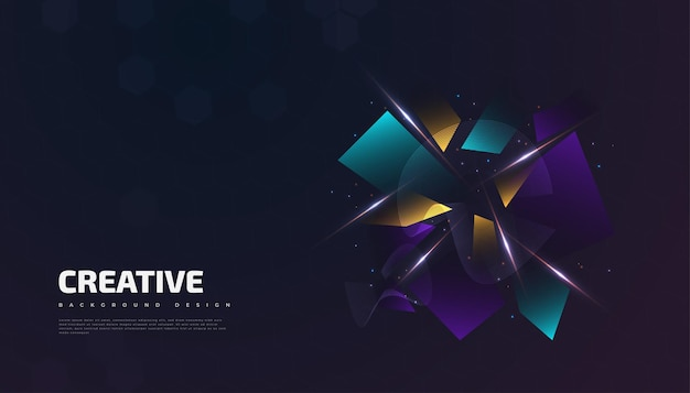 Abstract creative background with colorful gradient shapes and glowing effect. suitable for cover, presentation, banner or landing page