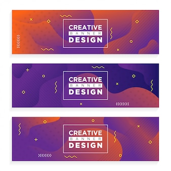 Abstract creative banner