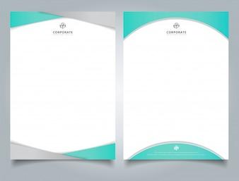 抽象的な創造的な青いレターヘッドデザインテンプレート