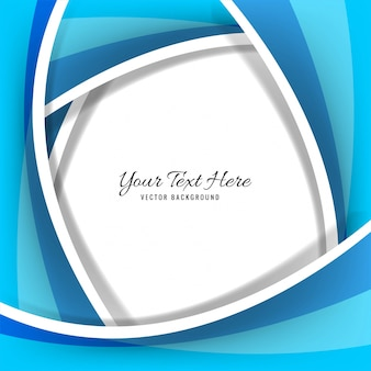 Abstract creative blue wave background vector