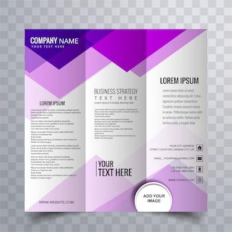 Disegno astratto di brochure creativo