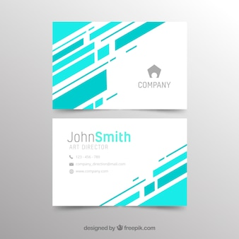 Abstract creative business card template