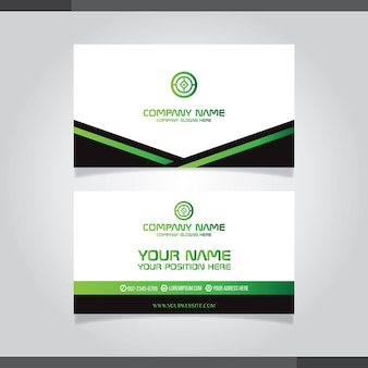 Abstract creative business cards black and white