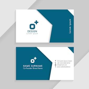 抽象的な創造的な名刺。ビジネスidカードテンプレートの概念。