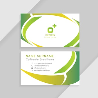 Abstract creative business cards. business identity card template concept.