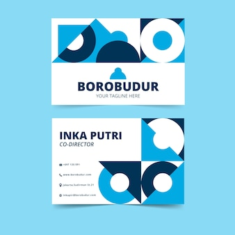 Abstract creative business cards with circular geometric shapes