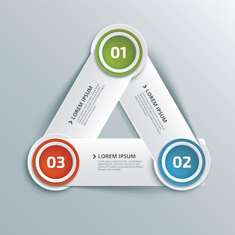 Abstract creative business infographic with triangle of three steps