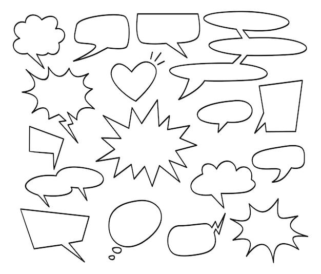 구름과 추상 창조적인 개념 만화 팝 아트 스타일 빈 레이아웃 템플릿