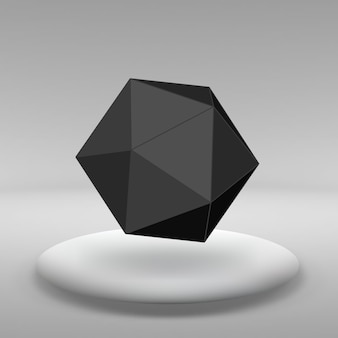 Абстрактный фон вектор творческой концепции геометрических фигур линий, подключенных к точкам в большой комнате студии с окном. современный офис. реалистичные векторные иллюстрации eps 10 для вашего дизайна