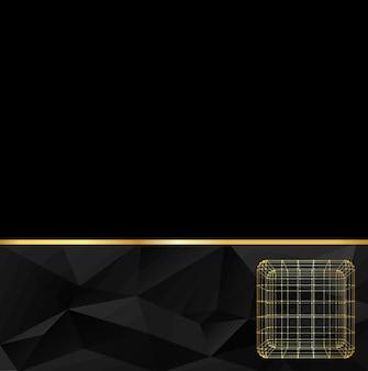 線と点の立方体の抽象的な創造的な概念ベクトルの背景。
