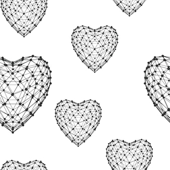 Abstract creative concept vector background. seamless pattern with hearts. vector illustration eps 10 for your design