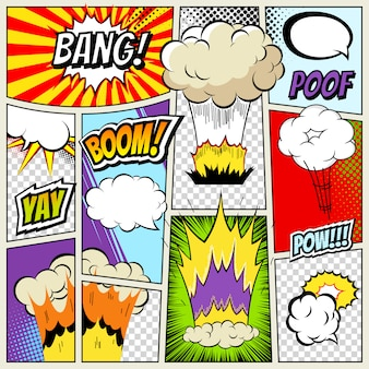 Abstract creative concept vector comics