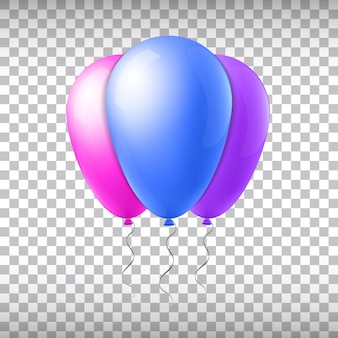 Abstract creative concept vector flight balloon with ribbon. for web and mobile applications isolated on background, art illustration template design, business infographic and social media icon