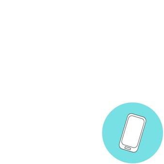 現代の携帯電話の抽象的な創造的な概念のベクトル図。線のアイコン。フラットなデザインのピクトグラム。