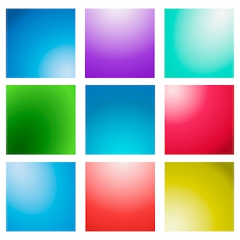 Abstract creative concept vector multicolored blurred background set.