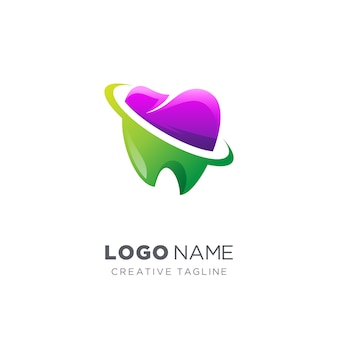 Abstract creative dental logo