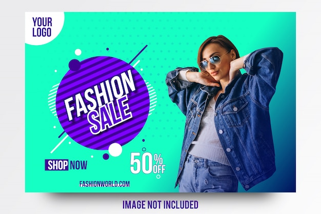 Abstract creative fashion sale offer banner template