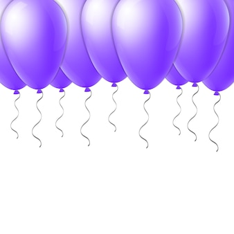 Abstract creative flight balloon with ribbon.