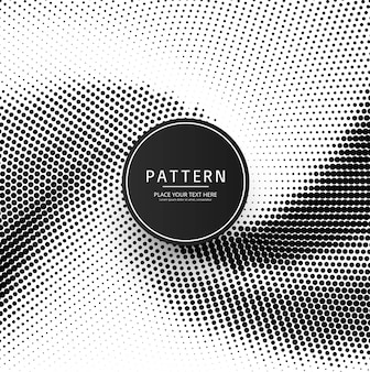 Abstract creative halftone patern design