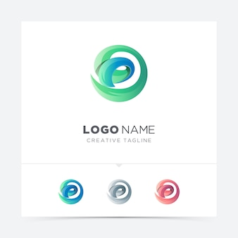 Abstract creative letter d logo variation