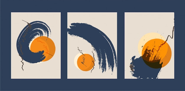 Abstract creative minimalist hand painted illustration for wall decoration