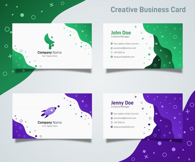 Abstract creative modern gradient simple liquid business card