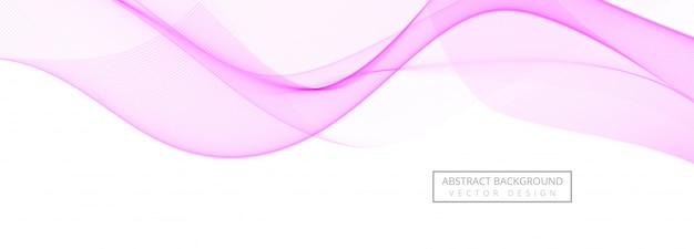 白い背景の上の抽象的な創造的なピンク波バナー