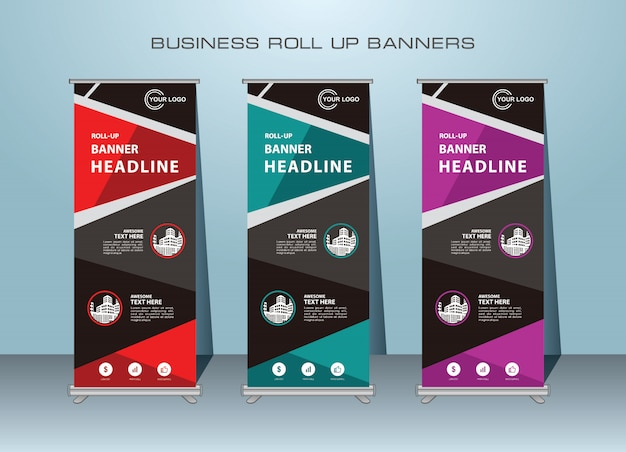 Abstract creative roll up template design