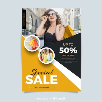 Abstract creative sale flyer template
