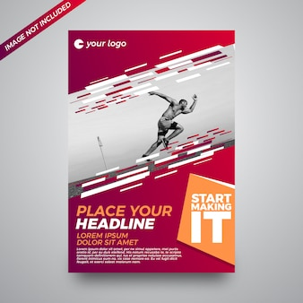 Abstract creative sports background flyer template