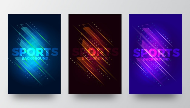 Abstract creative sports background templates