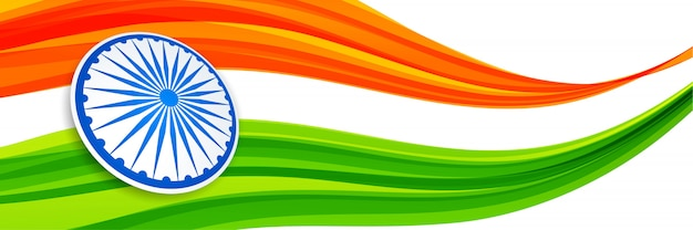 Abstract creative style indian flag design