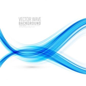 추상 창의적인 세련 된 블루 웨이브 배경