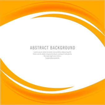 Abstract creative yellow business wave background