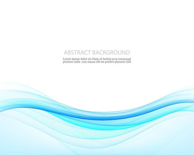 青い波、イラストの抽象的な創造性の背景