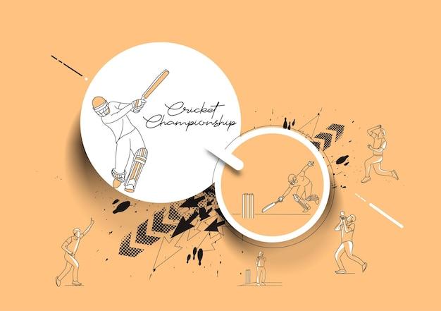 추상 크리켓 선수권 대회 배경 크리켓 리그 그림입니다.