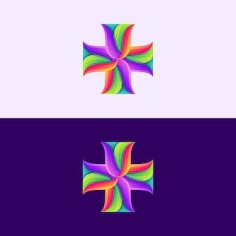 Abstract cross logo