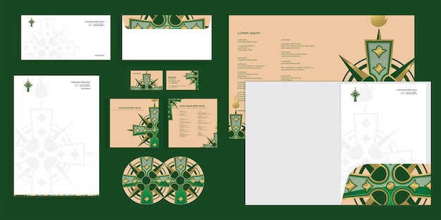 Abstract cross religion christian modern corporate business identity stationary