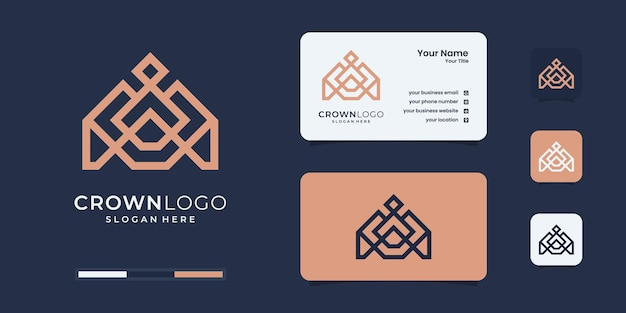 Abstract crown logo design template. logo for your brand identity.