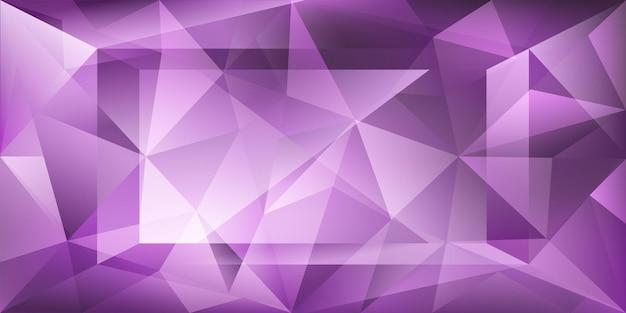 빛의 굴절과 보라색 색상의 하이라이트가 있는 추상 크리스탈 배경
