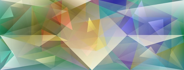 さまざまな色の光とハイライトを屈折させる抽象的な結晶の背景